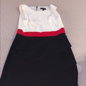 Connected size 14 cream and black dress